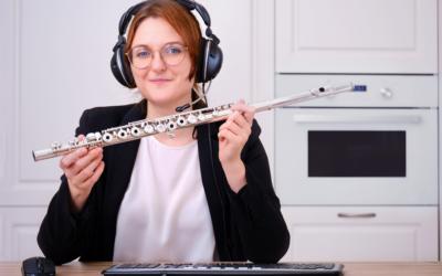 Les cours de flûte en visio : ça marche !